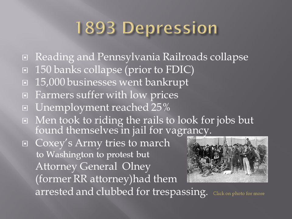 1893 Depression Reading and Pennsylvania Railroads collapse