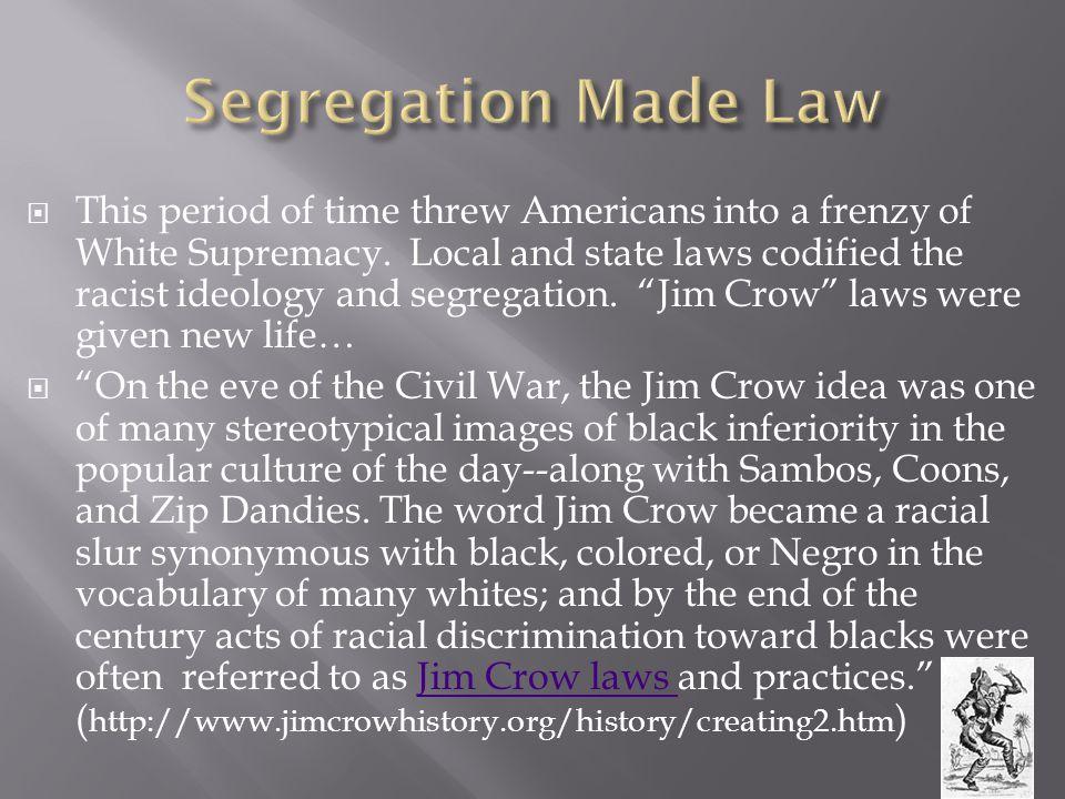 Segregation Made Law