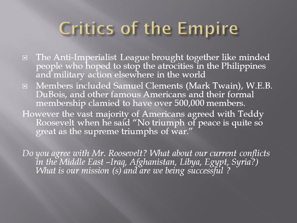 Critics of the Empire