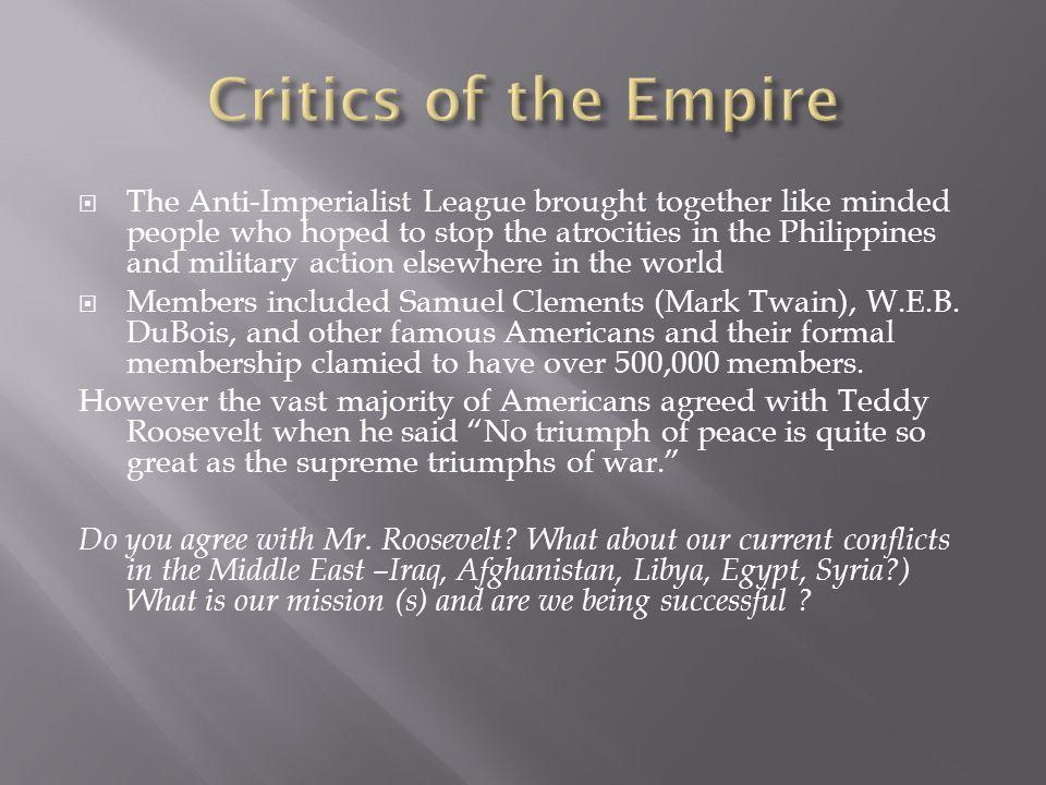 Critics of the Empire