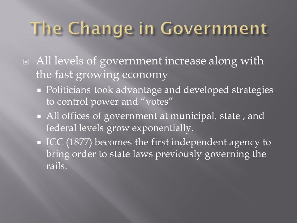 The Change in Government