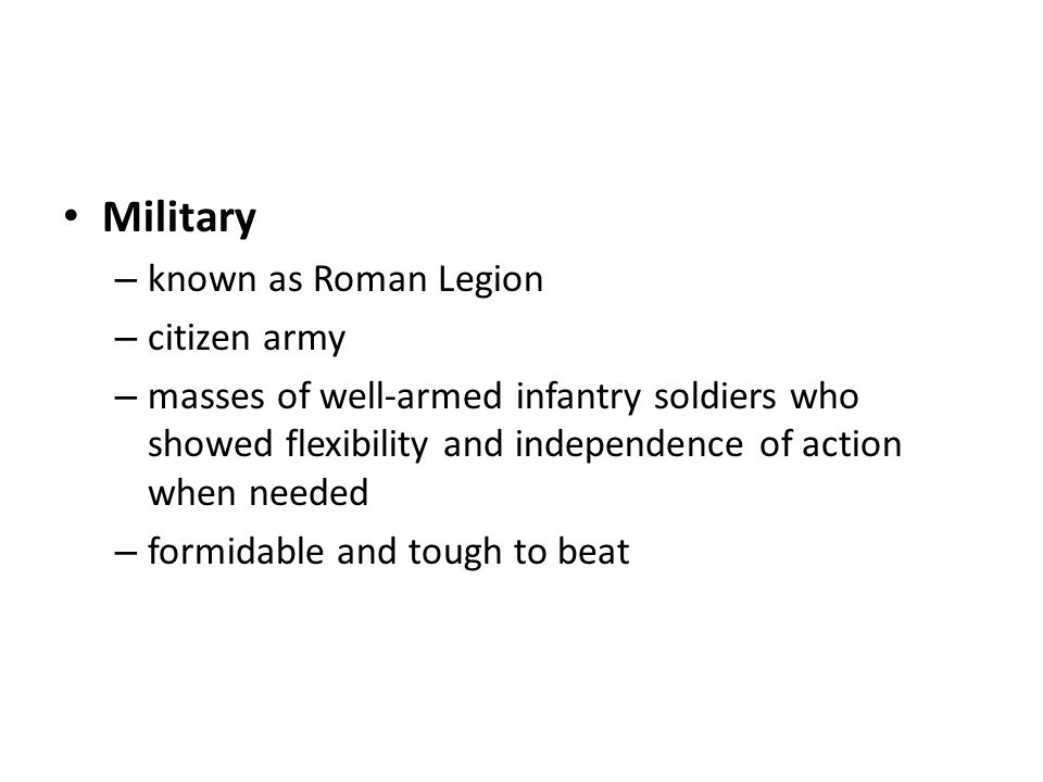 Military known as Roman Legion citizen army