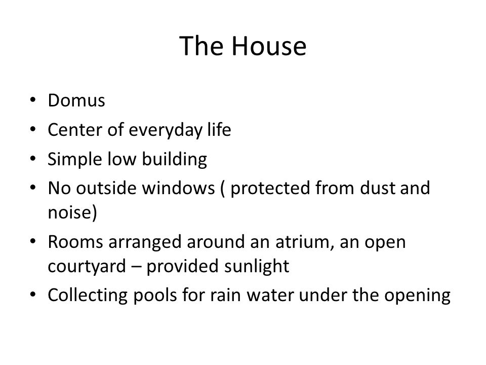 The House Domus Center of everyday life Simple low building