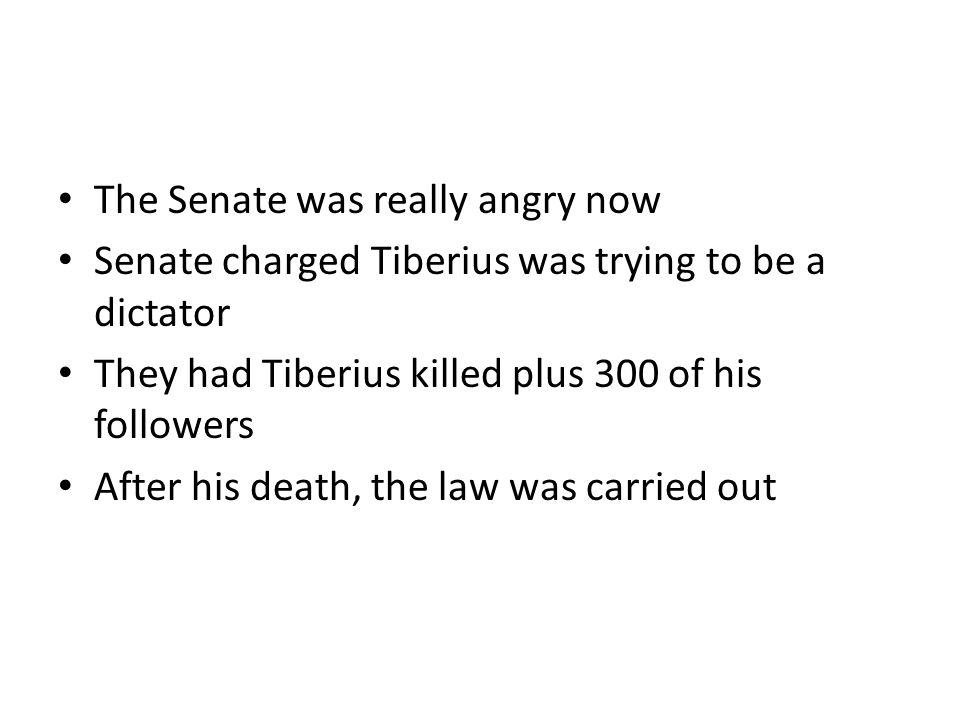 The Senate was really angry now
