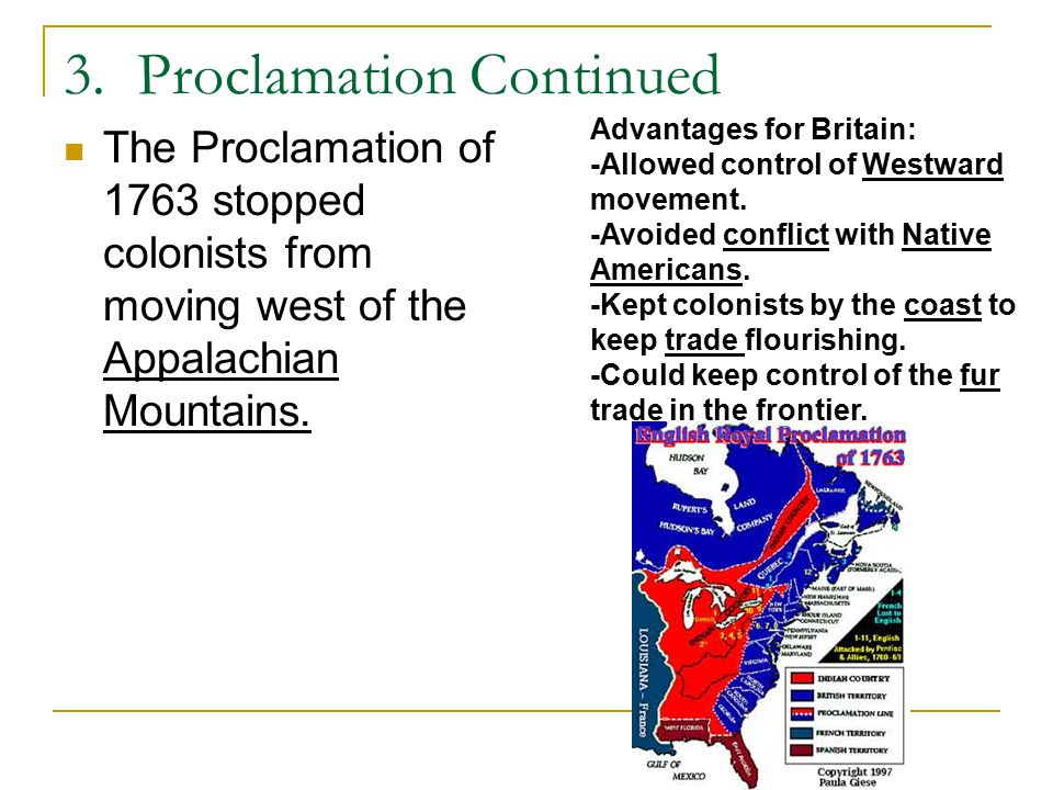3. Proclamation Continued
