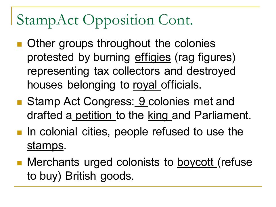StampAct Opposition Cont.