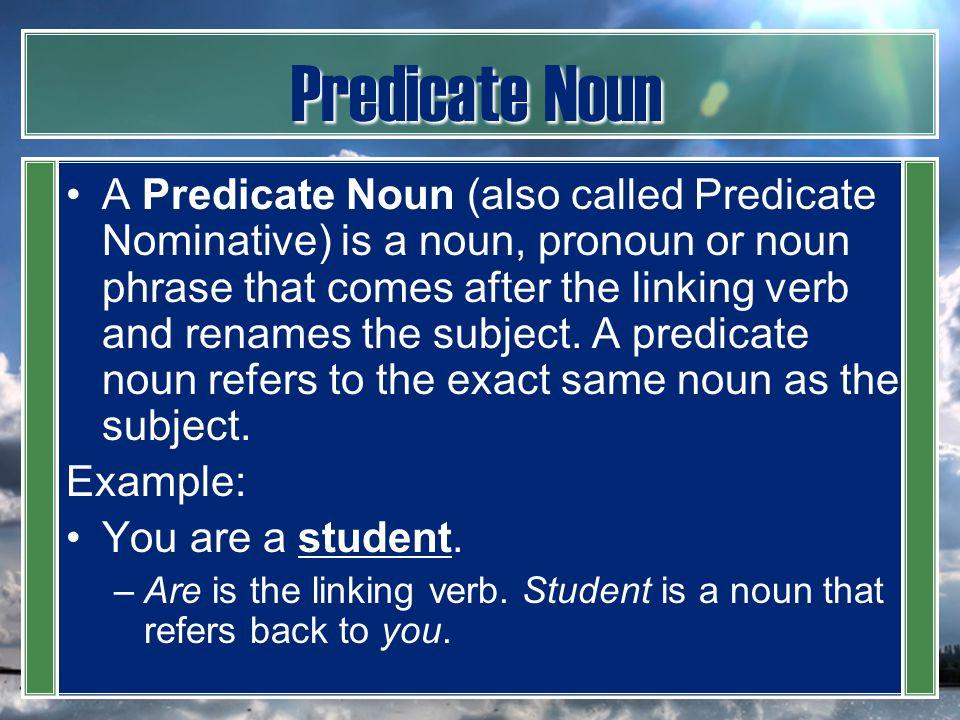 Predicate Noun