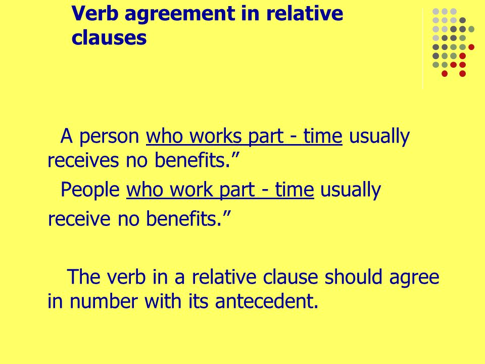 Verb agreement in relative clauses