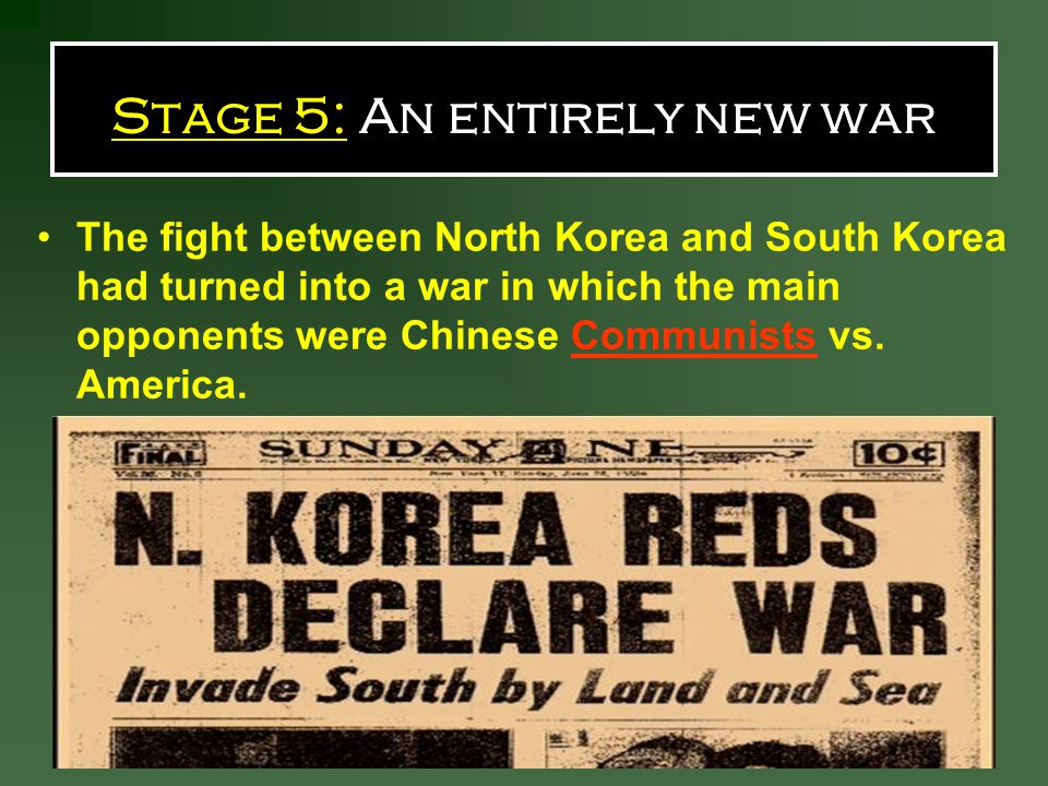 Stage 5: An entirely new war