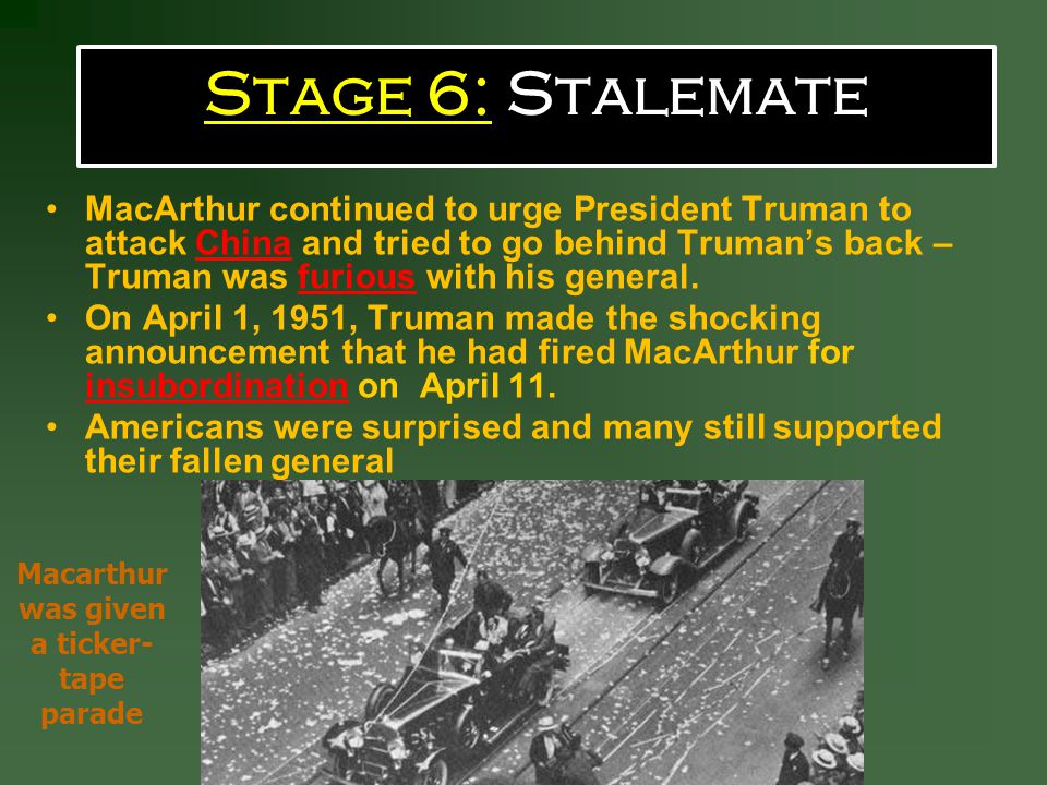 Macarthur was given a ticker-tape parade