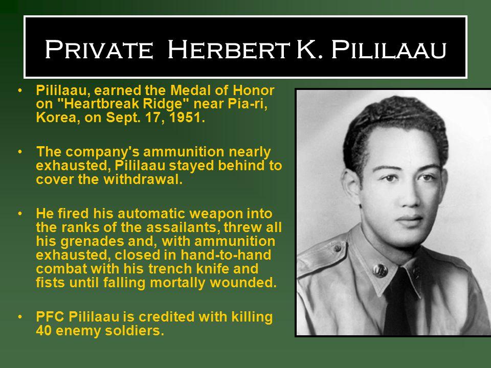 Private Herbert K. Pililaau