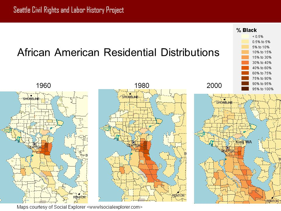 African American Residential Distributions
