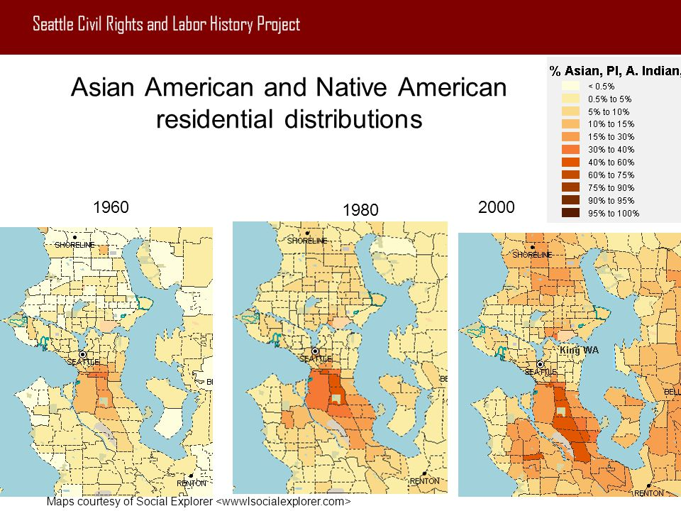 Asian American and Native American residential distributions