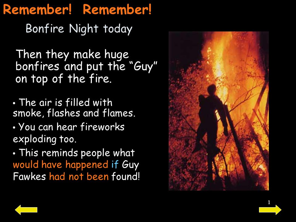 Remember! Remember! Bonfire Night today
