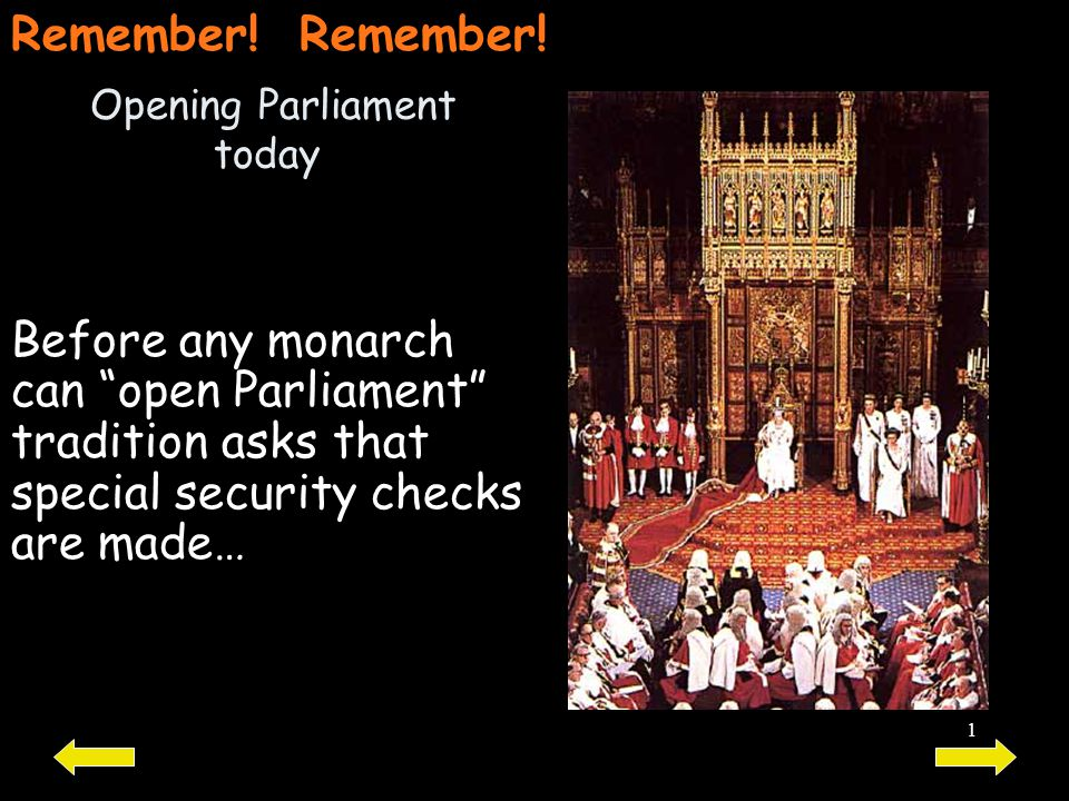 Opening Parliament today