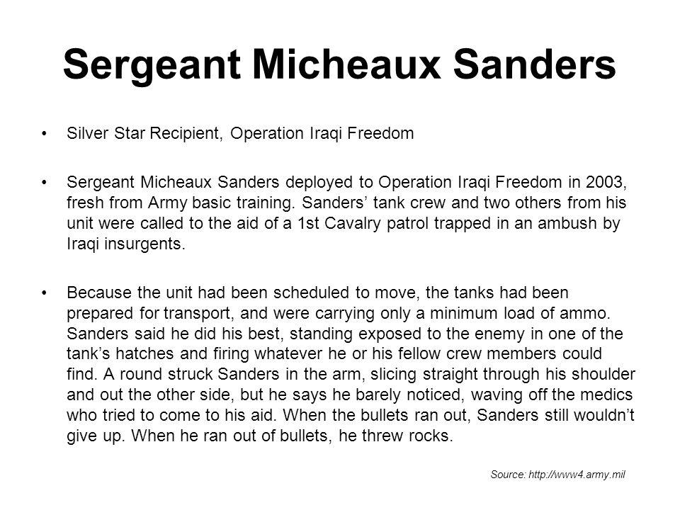 Sergeant Micheaux Sanders
