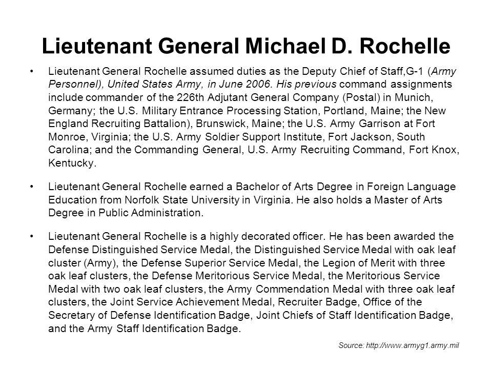 Lieutenant General Michael D. Rochelle