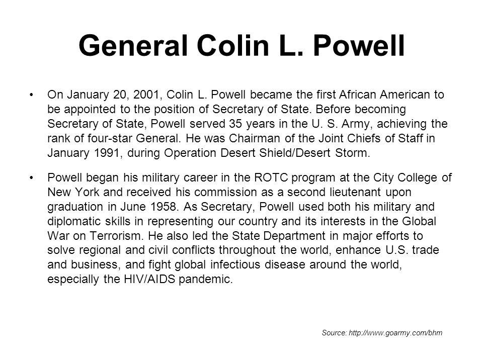 General Colin L. Powell