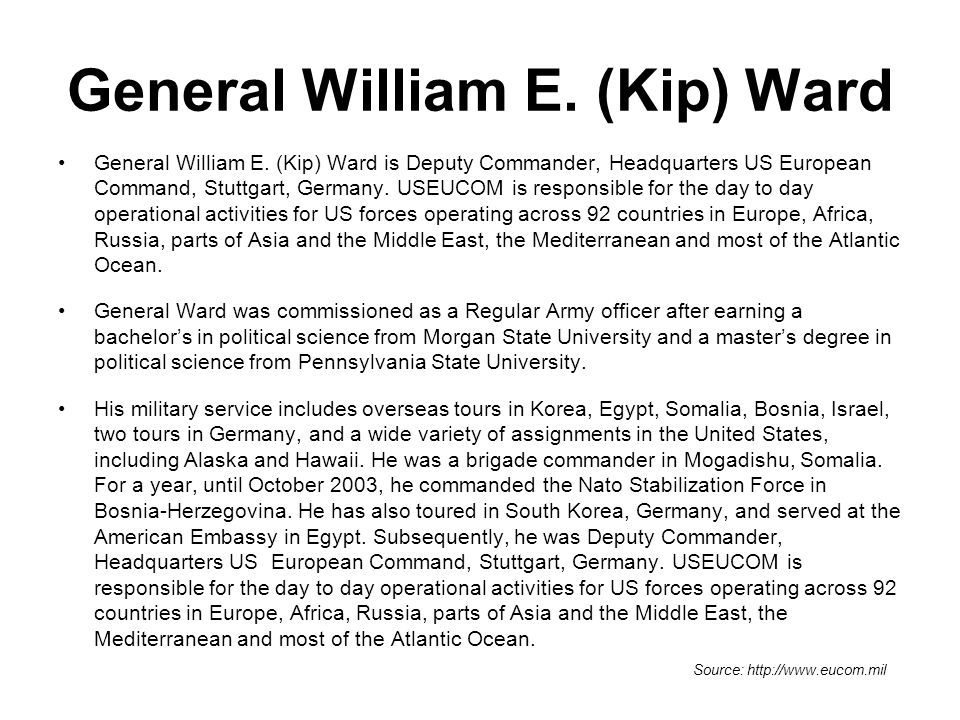 General William E. (Kip) Ward