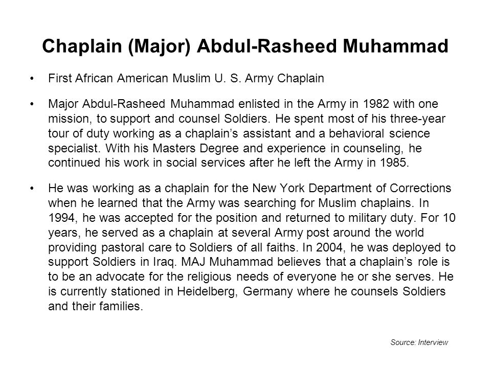 Chaplain (Major) Abdul-Rasheed Muhammad