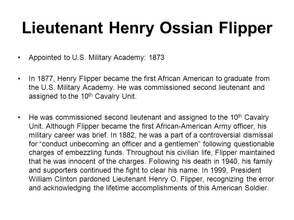 Lieutenant Henry Ossian Flipper