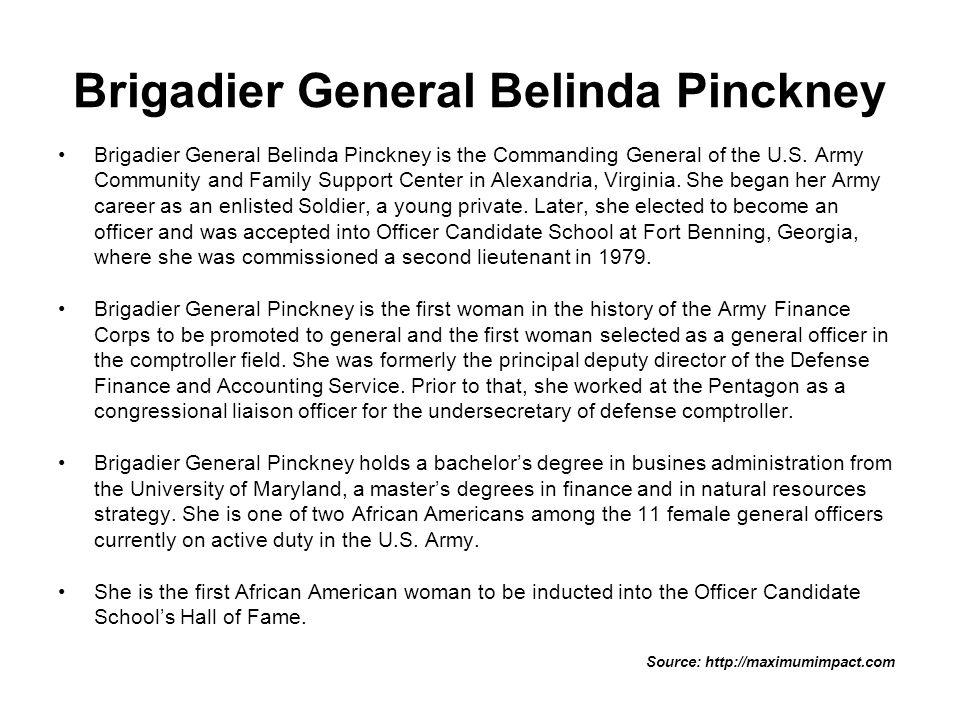Brigadier General Belinda Pinckney