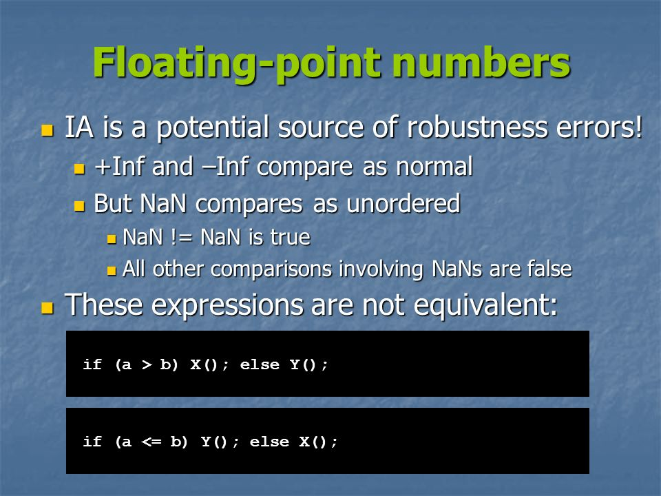 Floating-point numbers