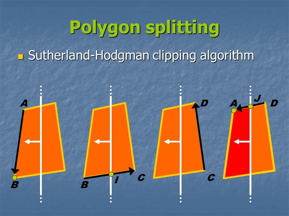 Polygon splitting Sutherland-Hodgman clipping algorithm J A D A D C C