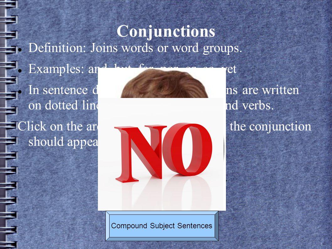 Compound Subject Sentences