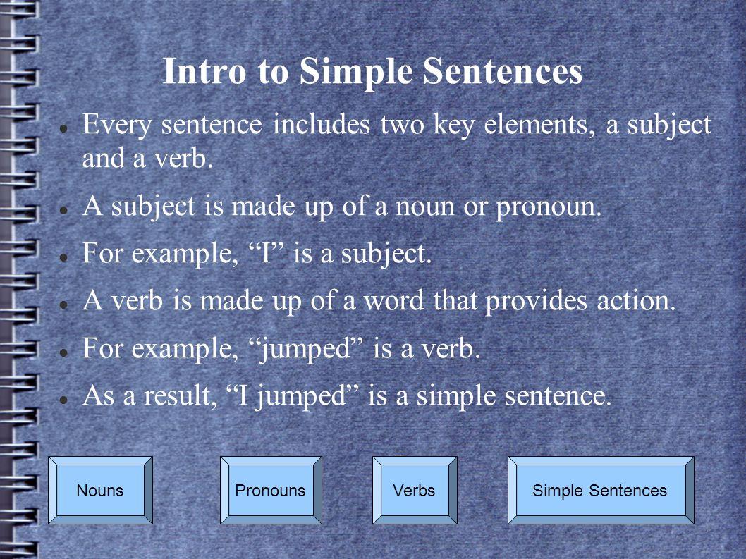 Intro to Simple Sentences