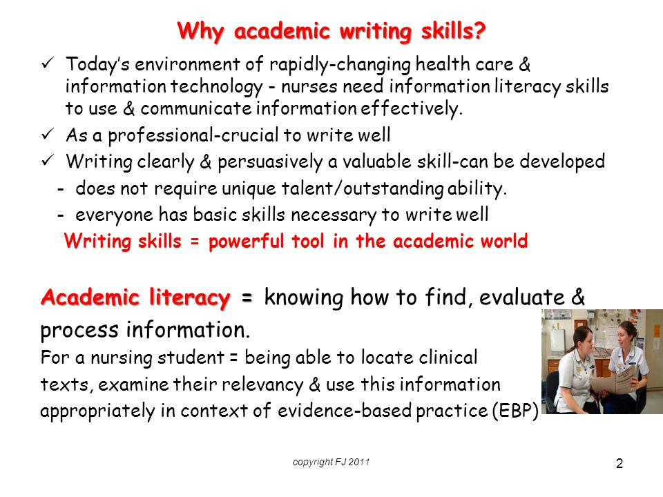 Why academic writing skills