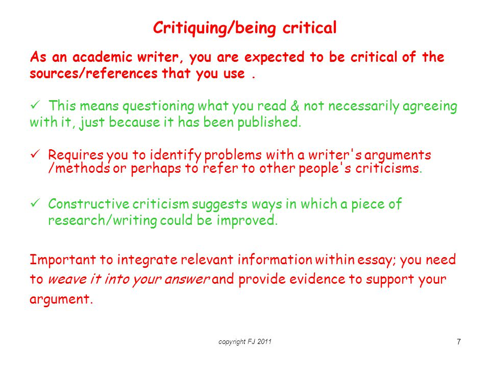 critical essays in academic writing Artcile critique writing help - get assistance with objective evaluation among various other types of tasks, article critique writing may pose a serious challenge for a student since you would need to get an in-depth critical understanding and be able to assess evidence comprehensively and objectively.