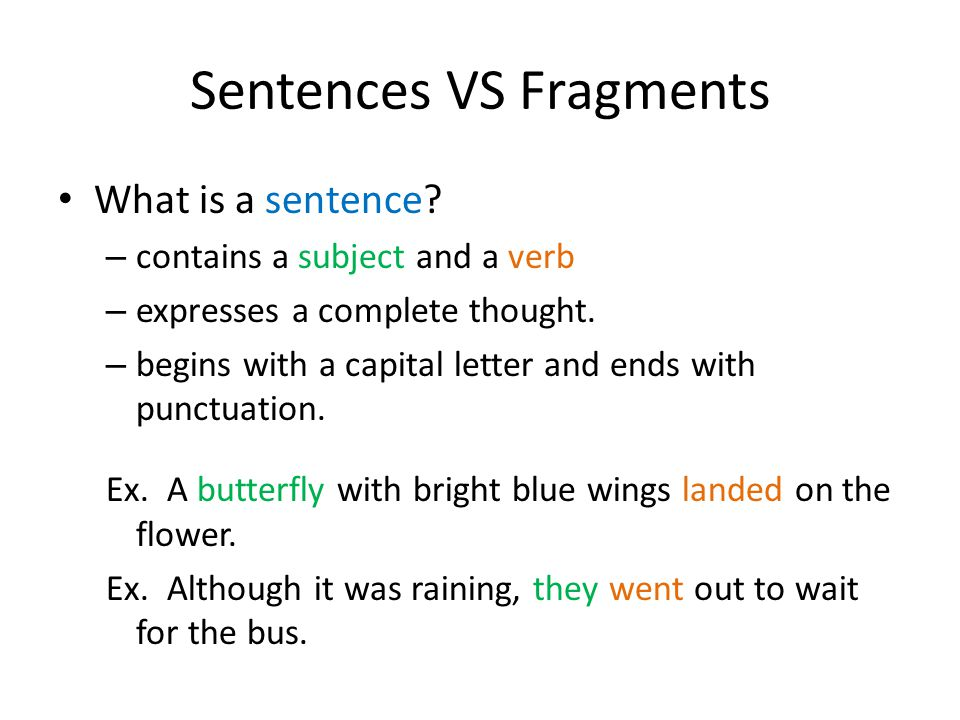 Chapter One: The Sentence - ppt download