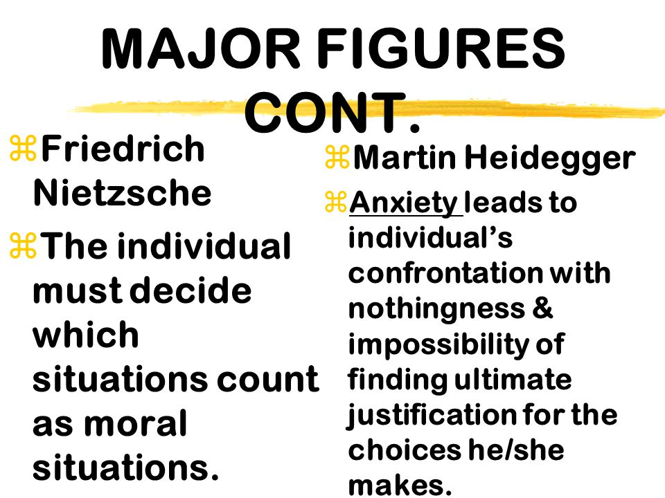 MAJOR FIGURES CONT. Friedrich Nietzsche