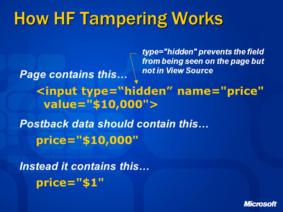 How HF Tampering Works Page contains this…