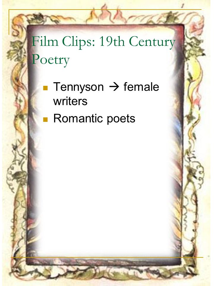 Film Clips: 19th Century Poetry