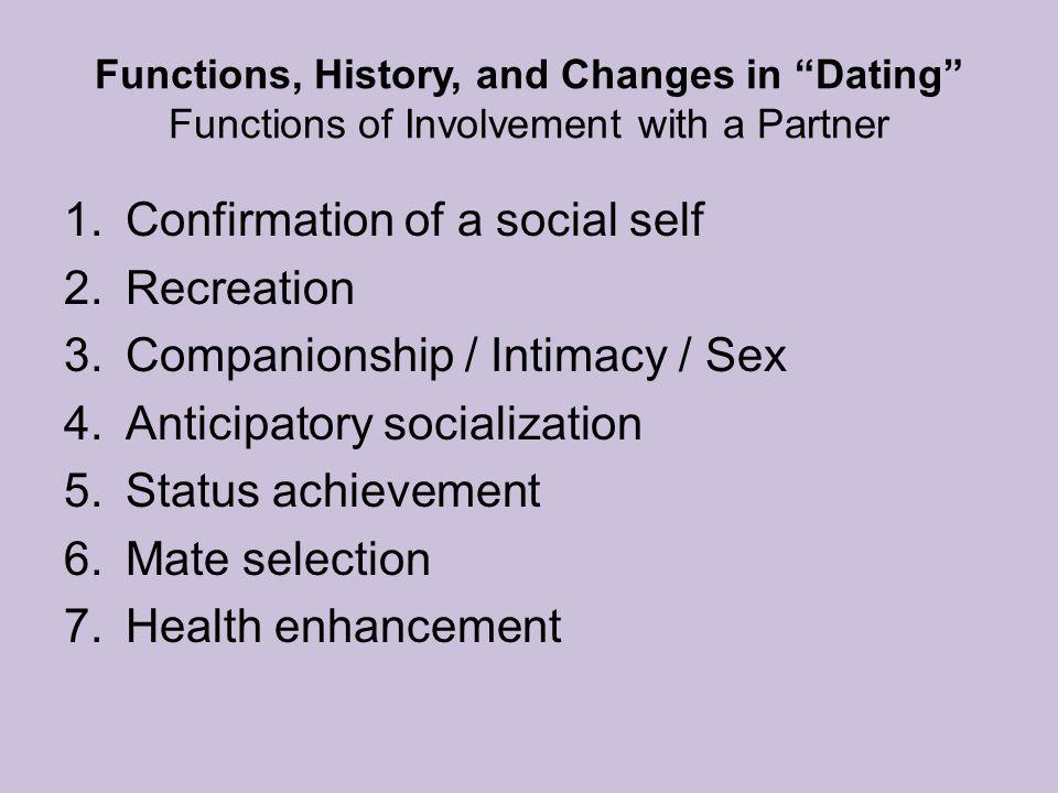 Confirmation of a social self Recreation