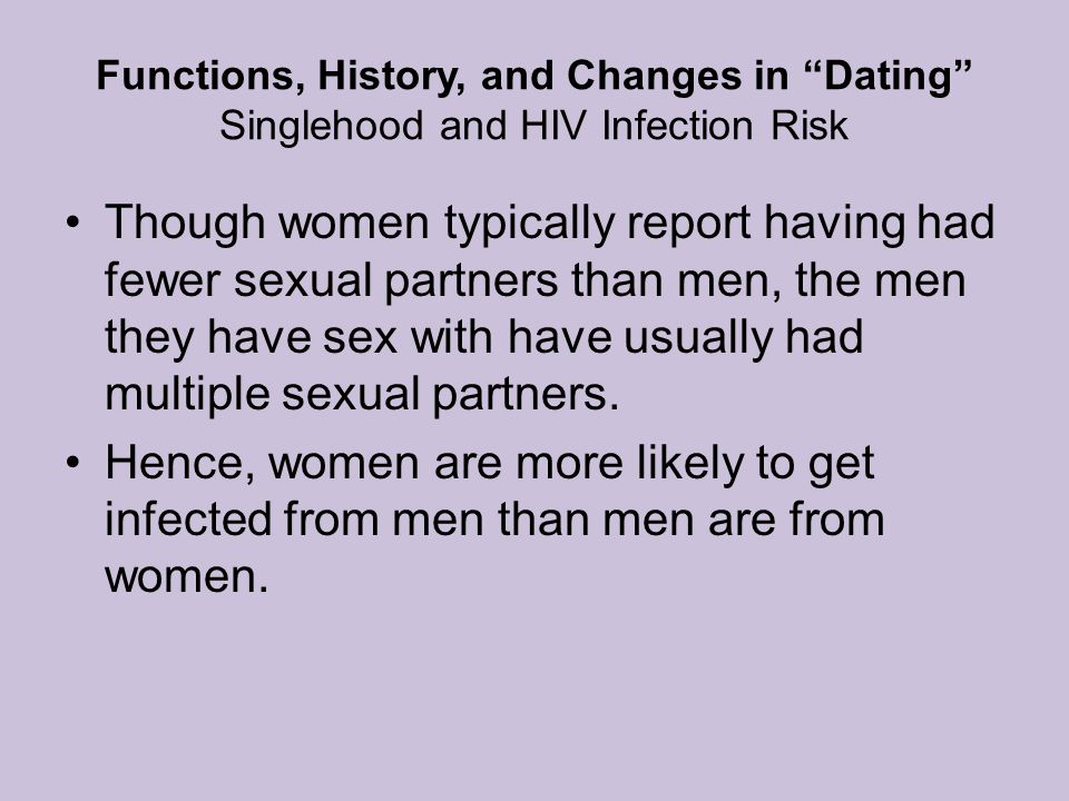 Functions, History, and Changes in Dating Singlehood and HIV Infection Risk