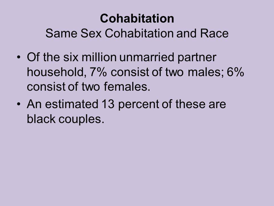 Cohabitation Same Sex Cohabitation and Race