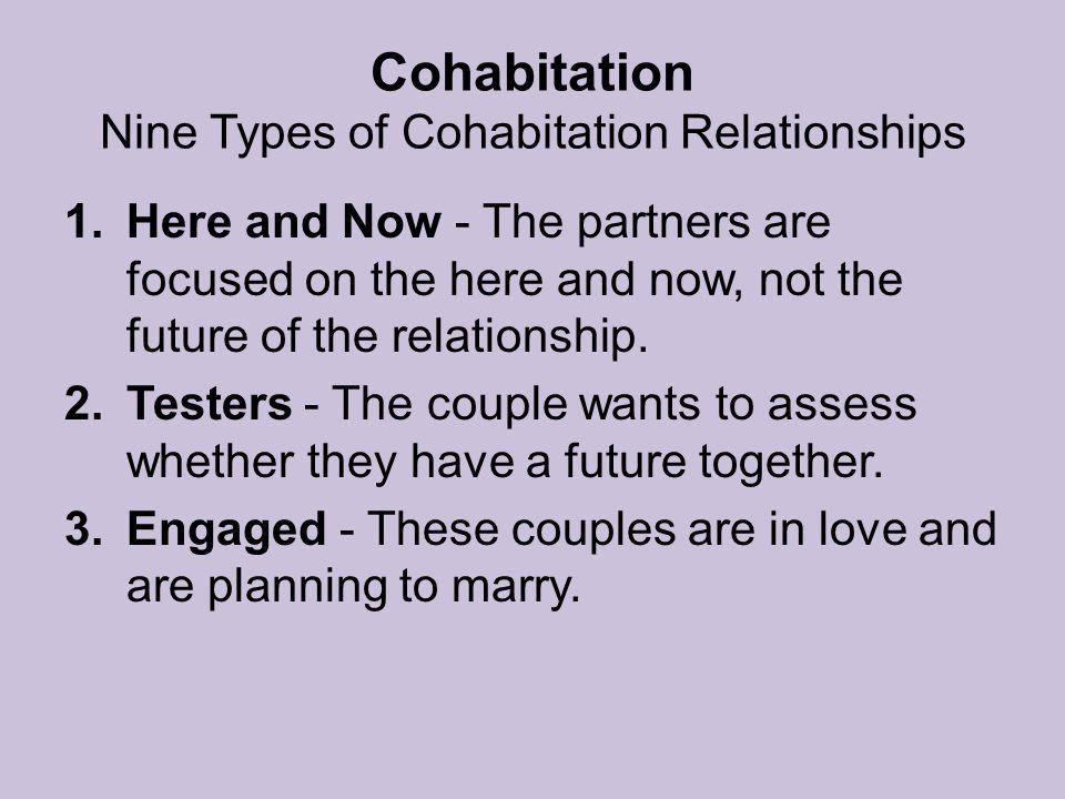 Cohabitation Nine Types of Cohabitation Relationships