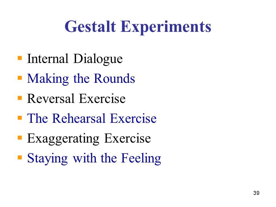 Gestalt Experiments Internal Dialogue Making the Rounds