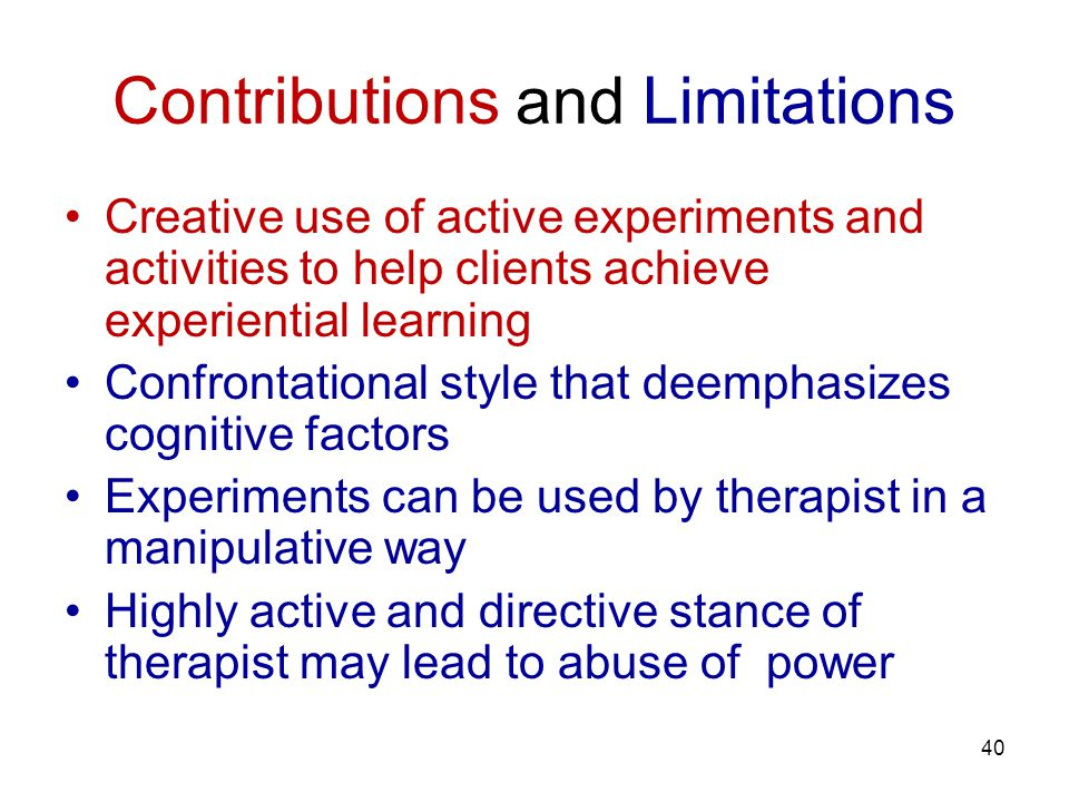 Contributions and Limitations
