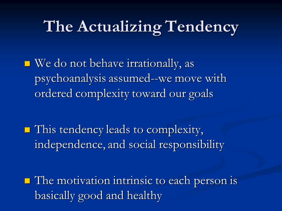 The Actualizing Tendency
