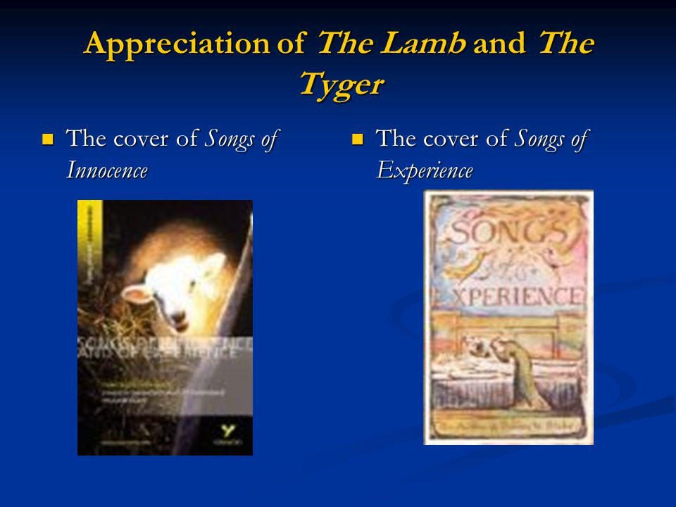 Appreciation of The Lamb and The Tyger