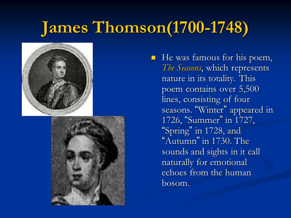 James Thomson(1700-1748)