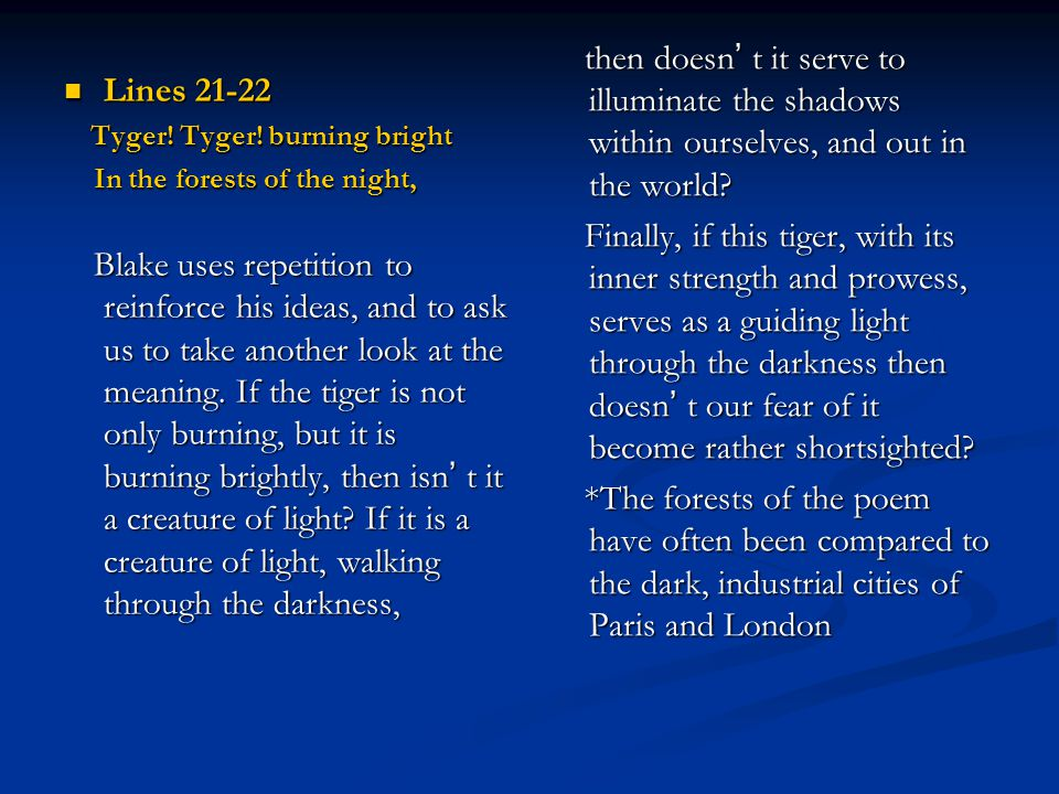 then doesn' t it serve to illuminate the shadows within ourselves, and out in the world