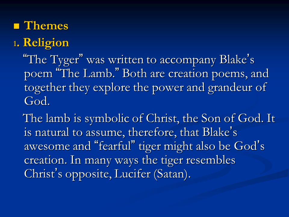 Themes 1. Religion.