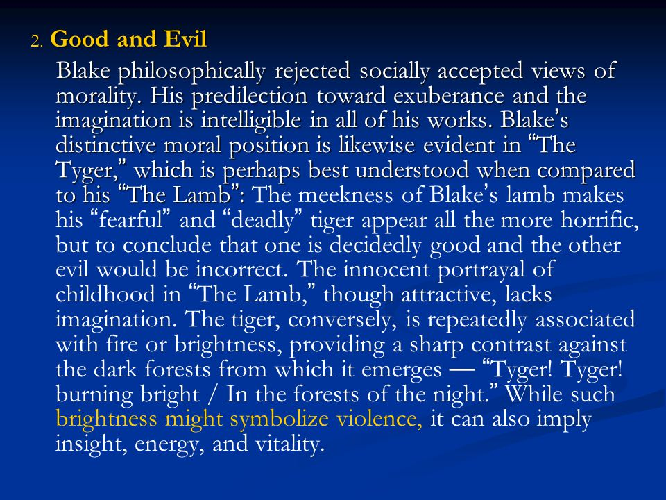 2. Good and Evil