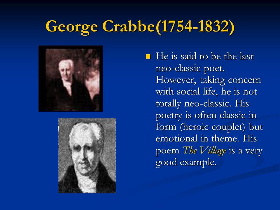 George Crabbe(1754-1832)