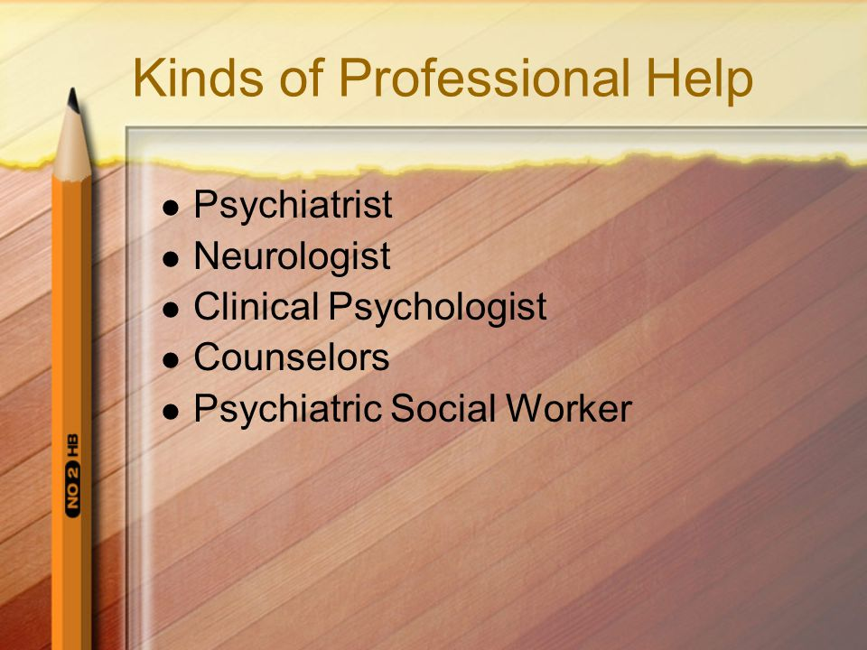 Kinds of Professional Help